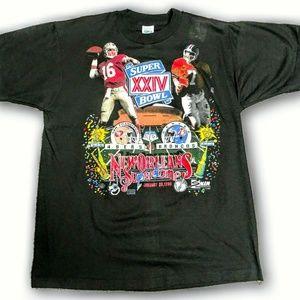 Vintage Super Bowl Elway and Montana Tee NWT RARE